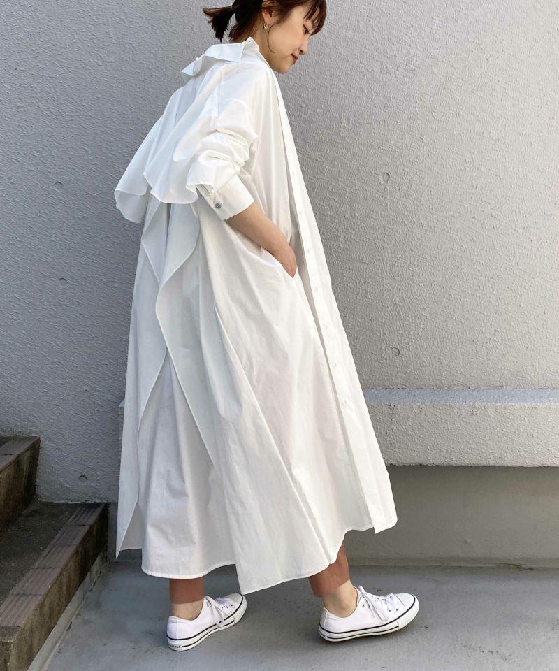model:H164 着用サイズ:M オフホワイト 羽織りとして