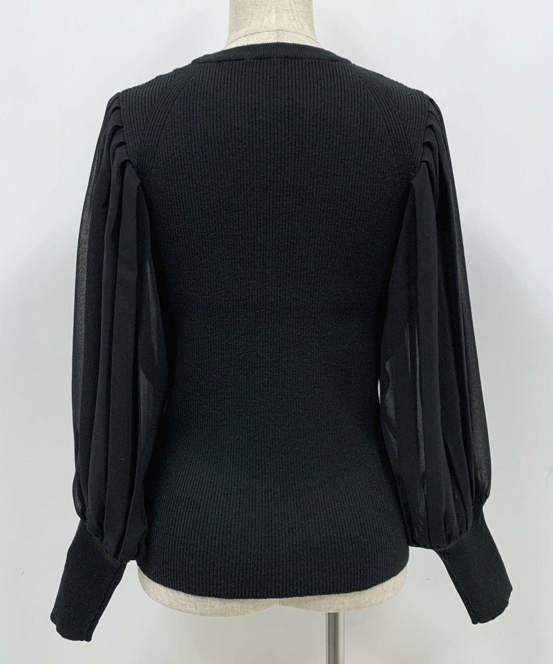 着用トルソーサイズ:B80, W60, H86 (Mサイズ着用)ブラック 後ろ