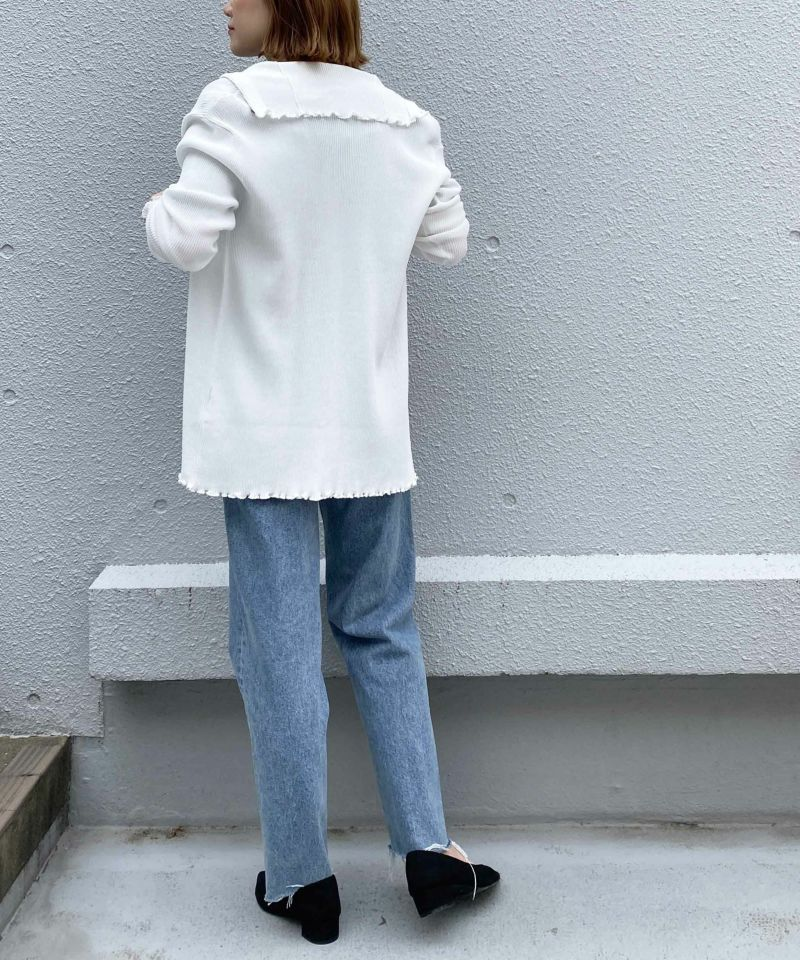 model:H164 着用サイズ:M オフホワイト