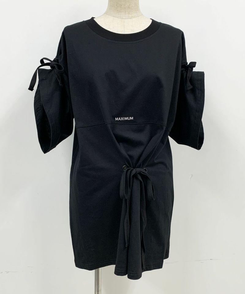 着用トルソーサイズ:B80, W60, H86 (Mサイズ着用) ブラック