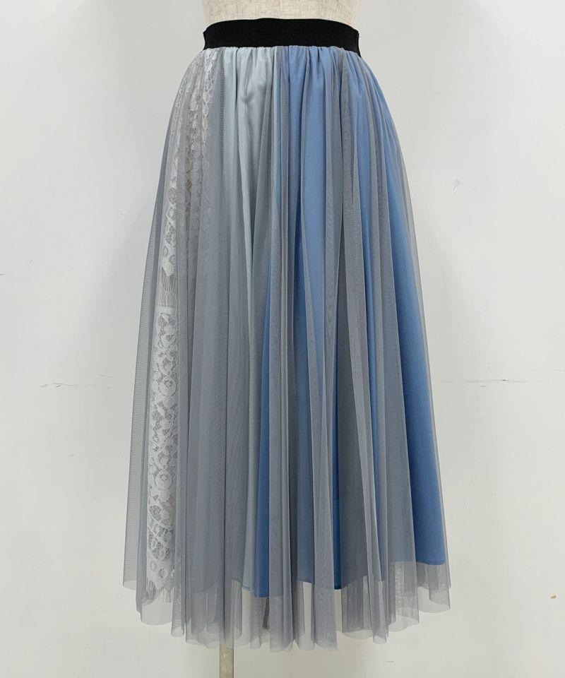 着用トルソーサイズ:B80, W60, H86 (Mサイズ着用) ブルー